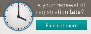 Is your renewal of registration late? Find out more.
